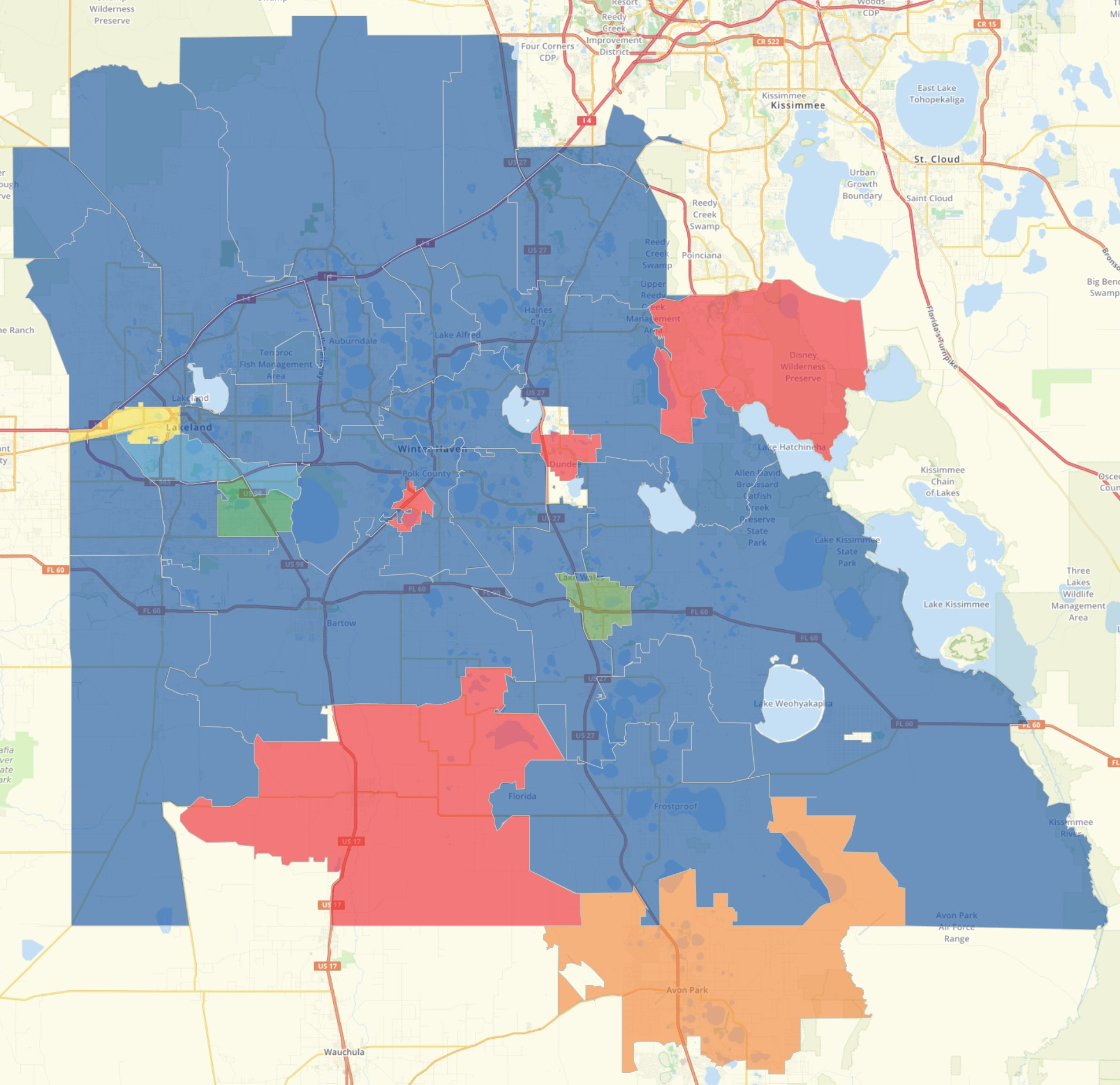 Polk County Results Map